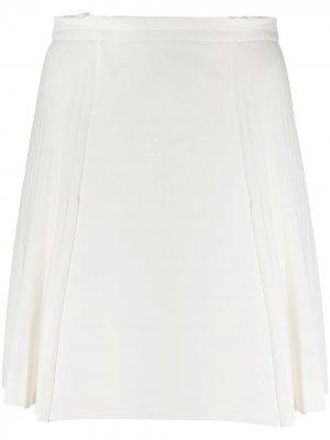 Юбка со складками Ermanno Scervino. Цвет: белый