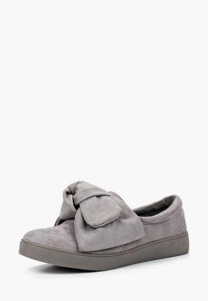 Слипоны Max Shoes. Цвет: серый