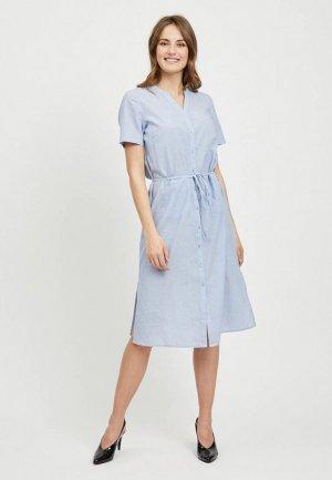 Платье Vila. Цвет: голубой