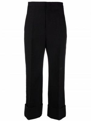 Укороченные брюки строгого кроя Jil Sander. Цвет: черный