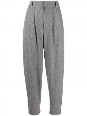 Зауженные кашемировые брюки Brunello Cucinelli. Цвет: серый