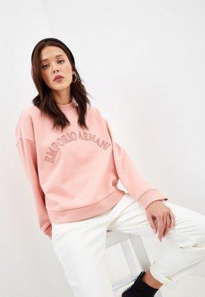 Свитшот Emporio Armani. Цвет: розовый