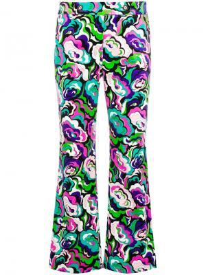 Укороченные расклешенные брюки Emilio Pucci. Цвет: зеленый