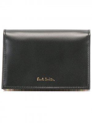 Бумажник с откидным клапаном PAUL SMITH. Цвет: черный