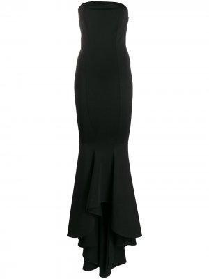 Платье без бретелей с асимметричным подолом Alexandre Vauthier. Цвет: черный