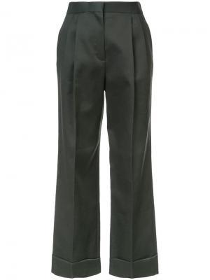 Расклешенные брюки Llano The Row. Цвет: зеленый