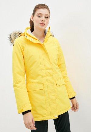 Куртка утепленная Rukka. Цвет: желтый