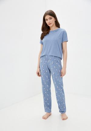 Пижама Marks & Spencer. Цвет: голубой
