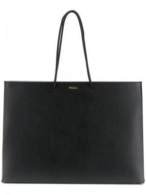 Большая сумка-шоппер Medea. Цвет: черный