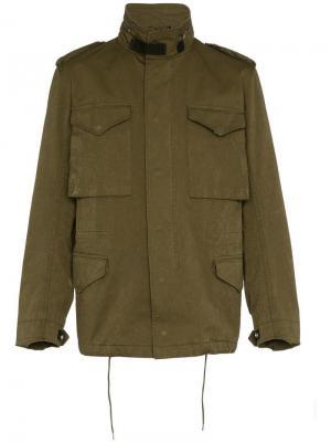 Куртка с карманами Ten C. Цвет: зеленый