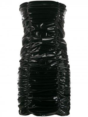 Коктейльное платье со сборками Philipp Plein. Цвет: черный
