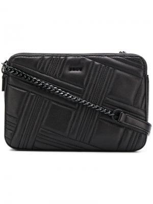 Стеганая сумка на плечо Donna Karan. Цвет: черный