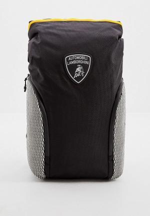 Рюкзак Automobili Lamborghini. Цвет: черный