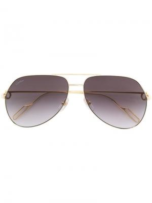 Aviator frame sunglasses Cartier. Цвет: золотистый
