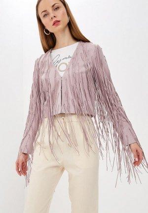 Куртка кожаная Patrizia Pepe. Цвет: розовый