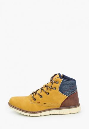 Ботинки Beppi. Цвет: желтый