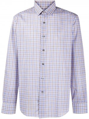 Клетчатая рубашка LANVIN. Цвет: синий
