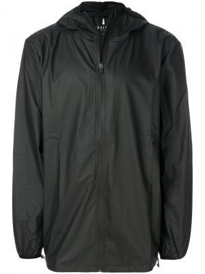 Базовая куртка Rains. Цвет: чёрный