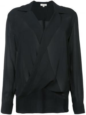 Драпированная блузка L'agence. Цвет: черный