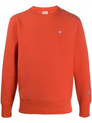 Джемпер с вышитым логотипом Champion. Цвет: оранжевый