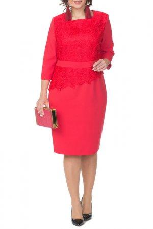 Платье Amelia lux. Цвет: бордовый
