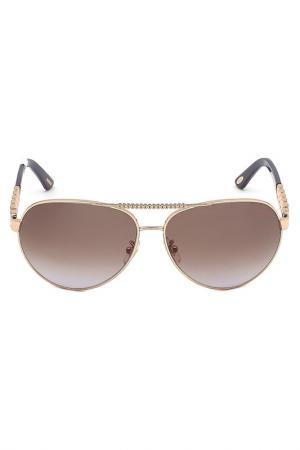 Очки солнцезащитные Chopard. Цвет: золотой