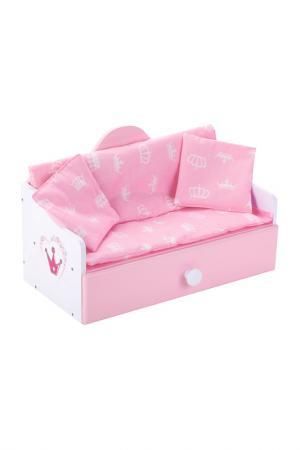 Кроватка-софа Корона MARY POPPINS. Цвет: розовый