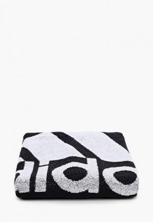 Полотенце adidas. Цвет: черный