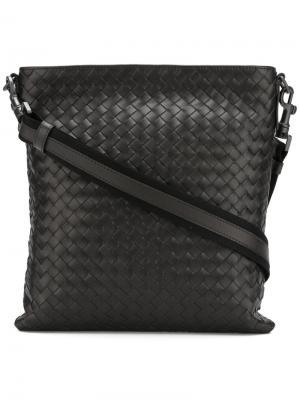 Плетеная сумка через плечо Bottega Veneta. Цвет: коричневый