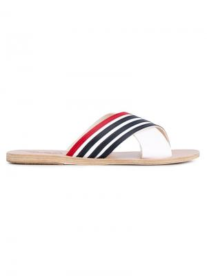 Сандалии Thais Stripe Ancient Greek Sandals. Цвет: белый