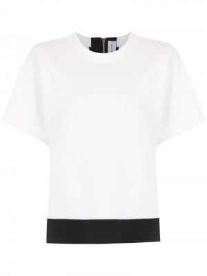 Блузка со вставками Gloria Coelho. Цвет: белый