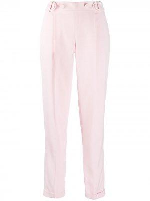 Строгие брюки кроя слим Philosophy Di Lorenzo Serafini. Цвет: розовый