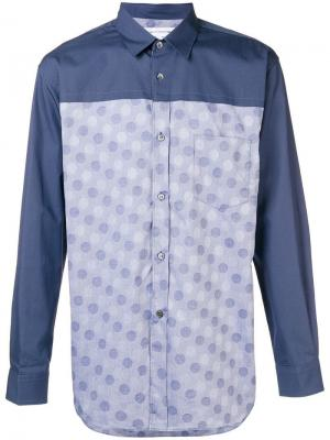 Dobby dots shirt Comme Des Garçons. Цвет: синий