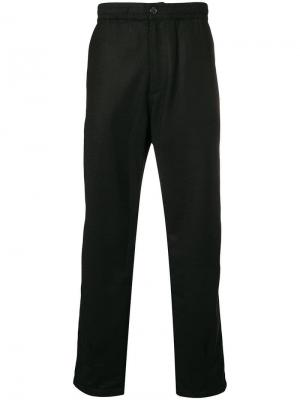 Elasticated waist straight trousers Universal Works. Цвет: черный