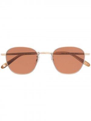 Солнцезащитные очки в круглой оправе Garrett Leight. Цвет: золотистый