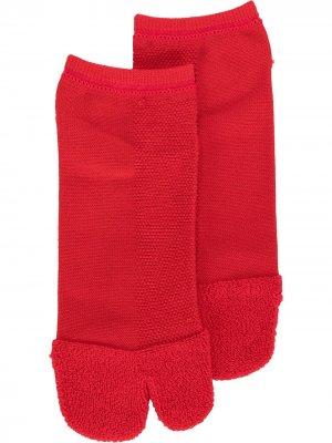 Носки Tabi с логотипом Yohji Yamamoto. Цвет: красный