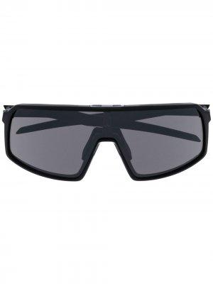 Солнцезащитные очки-маска Oakley. Цвет: черный