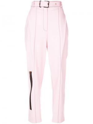 Строгие брюки с молнией Proenza Schouler. Цвет: розовый