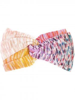 Повязка на голову с узлом Missoni. Цвет: фиолетовый