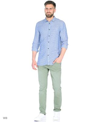 Рубашка ANERKJENDT. Цвет: голубой