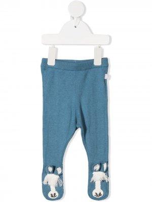Трикотажные брюки Stella McCartney Kids. Цвет: синий