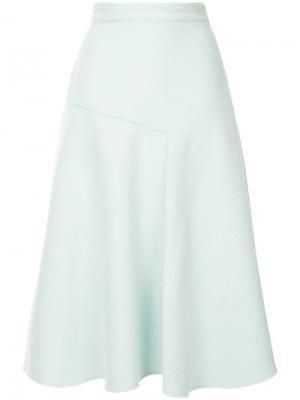 Расклешенная юбка миди Des Prés. Цвет: зеленый