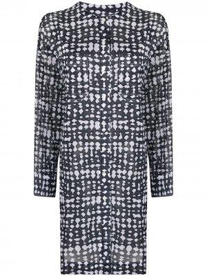 Пляжное платье Mangouste с абстрактным принтом Eres. Цвет: черный