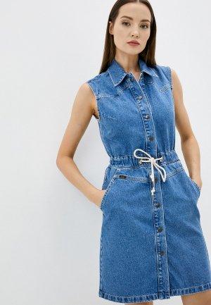 Платье джинсовое Lee. Цвет: синий