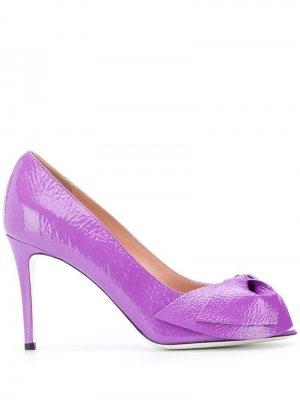 Туфли-лодочки с открытым носком Pollini. Цвет: фиолетовый