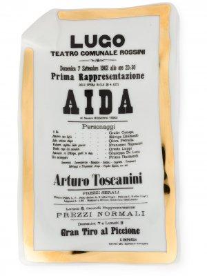 Большая пепельница Aida Fornasetti. Цвет: белый