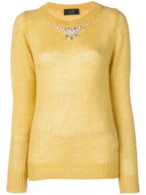 Crystal embellished jumper Ki6. Цвет: желтый