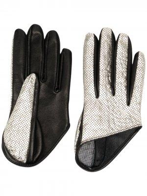 Двухцветные перчатки Manokhi. Цвет: черный