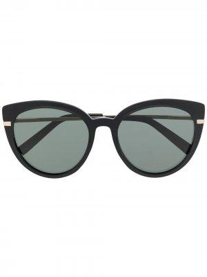 Солнцезащитные очки Promiscuous в оправе кошачий глаз Le Specs. Цвет: черный