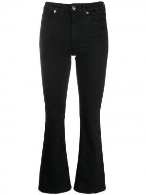 Укороченные расклешенные джинсы с завышенной талией Dondup. Цвет: черный